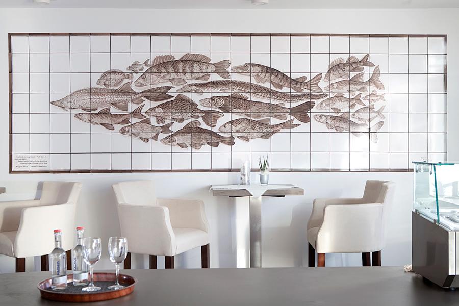 Wohnküche Bleckede Oliver Barda ~ Handgemalte Fliesenbilder in Geschäftsräumen  Fliesenmalerei