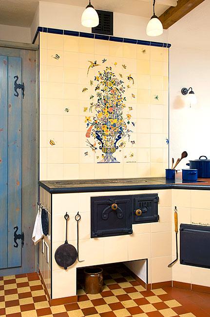 k chen mit individueller fliesenmalerei handgemalte fliesen von annelie somborn. Black Bedroom Furniture Sets. Home Design Ideas